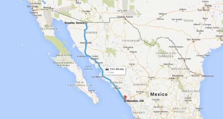 Nogales to Mazatlan